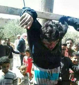 Keresztrefeszítés Szíriában